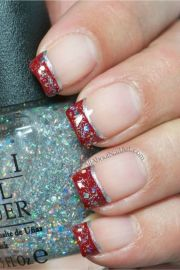 1000 ideas red french manicure