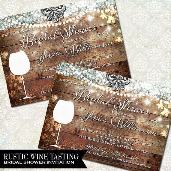 Wine Bridal Shower Invite Vineyard wedding Winery Wedding