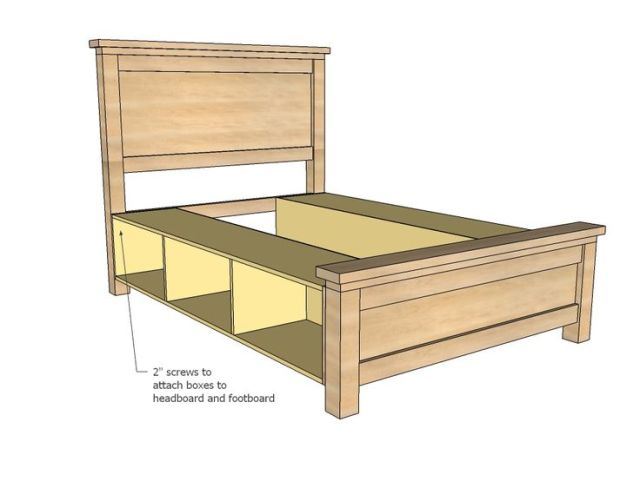 King Size Bed Frame With Drawers Plans - WoodWorking Projects & Plans