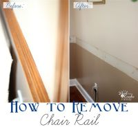 How to Remove Chair Rail ~Part 1 | We, Posts and Chairs