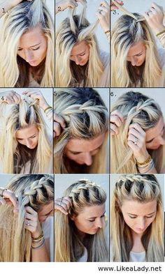 Die Besten 25 Haare Flechten Anleitung Ideen Auf Pinterest