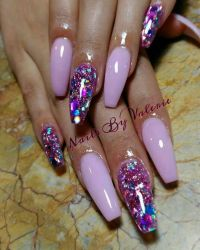 25+ best ideas about Purple Glitter Nails on Pinterest