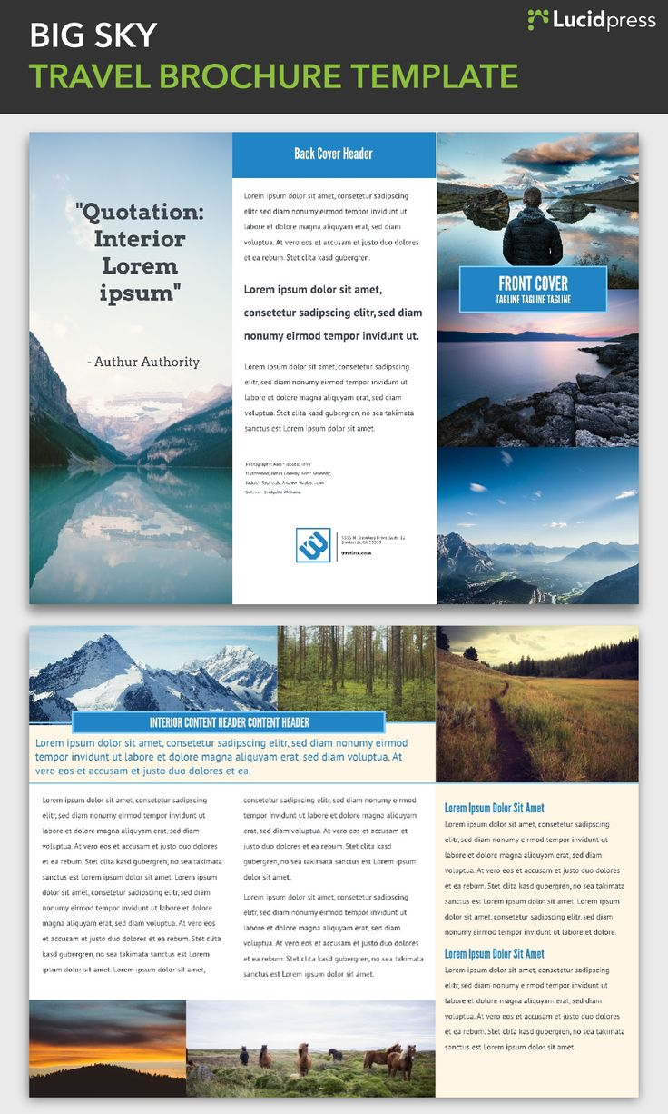13 Best Images About Free Brochure Templates On Pinterest