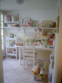 133 best images about SHABBY CHIC ~ SEWING ROOM/CRAFT ROOM ...