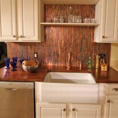 Kitchen To Go Cabinets Cabinet Kits Sale Gorgeous Copper Color Backsplash Sheets | Kitchens ...