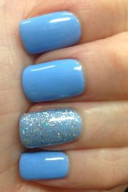 ideas blue nails