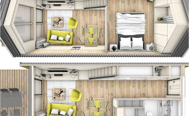 181 Best Images About Tiny House Blueprints Studio Loft On