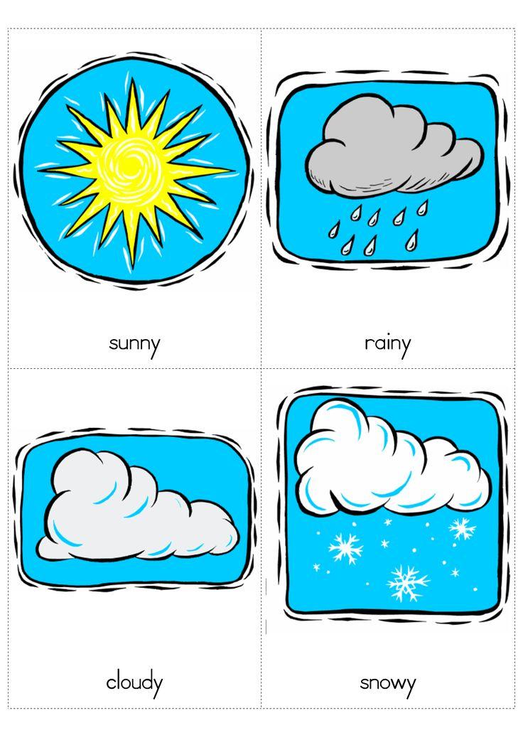 Windy Sunny Rainy Cloudy Snowy Preschool Pinterest