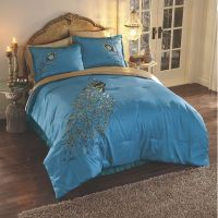 Embroidered Peacock Comforter Set from Midnight Velvet