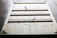 DIY simple bedframe with hairpin legs (I would probably ...
