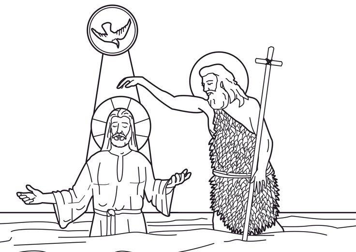 Baptism of Christ in the River Jordan with Saint John the