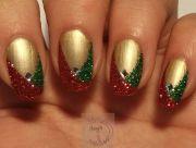 easy glitter christmas nails