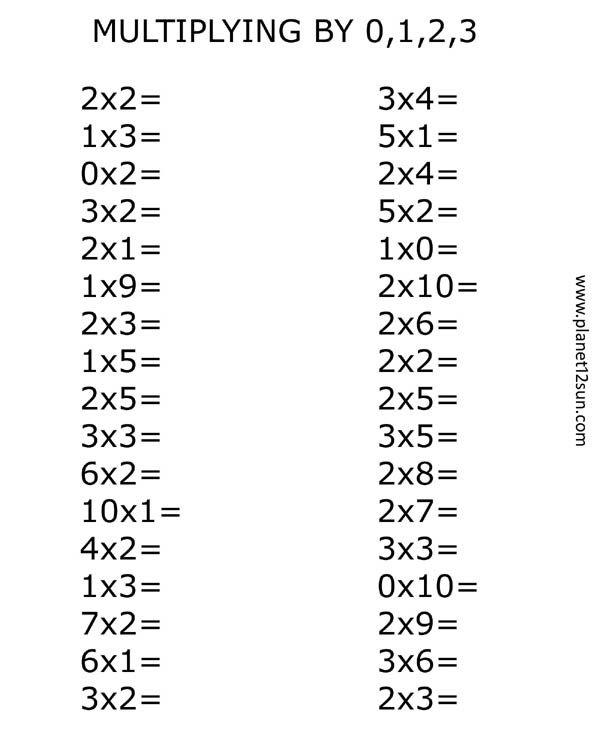 12 best images about Multiplication Worksheets on Pinterest
