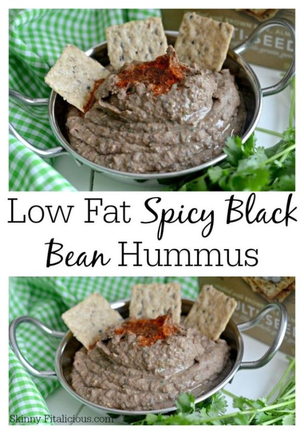 Low Fat Spicy Black Bean Hummus Without Tahini Recipe