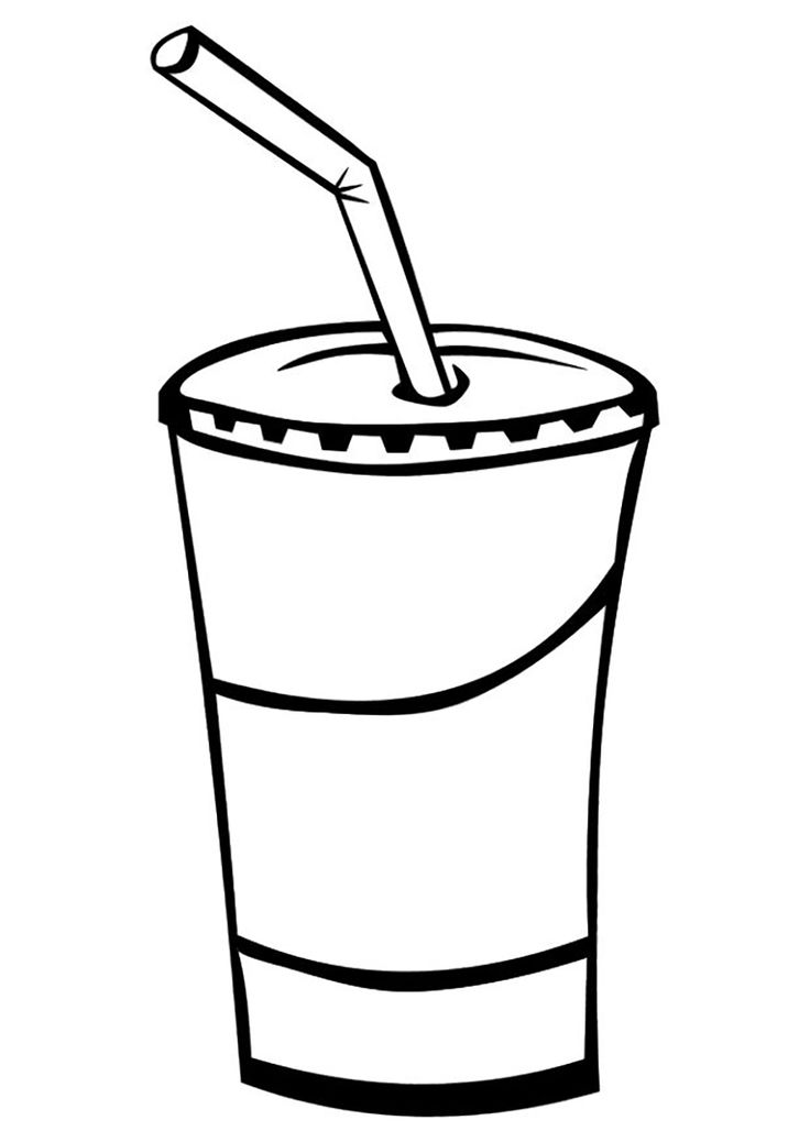 28 best Drinks Coloring Pages images on Pinterest
