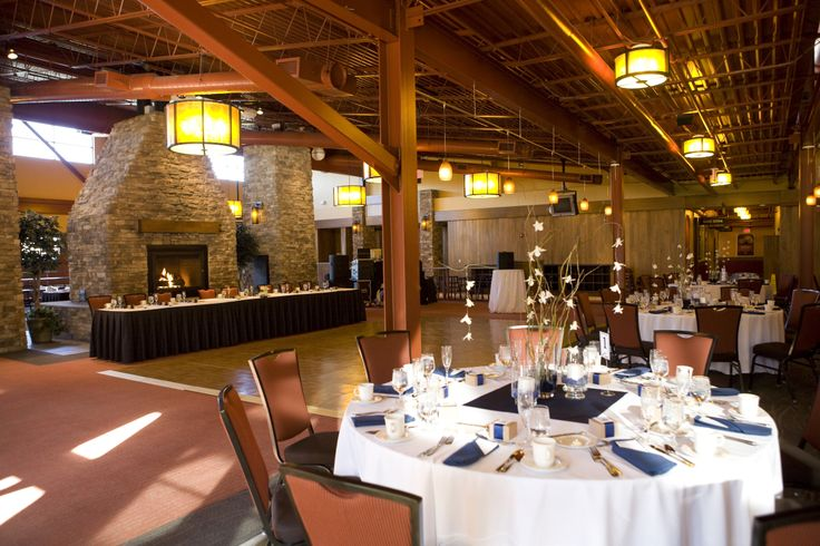 A wedding in the lodge at Bear Creek Mountain Resort
