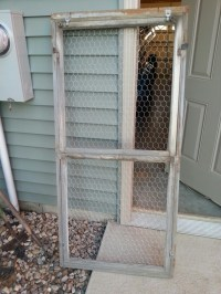 Love this...trellis made with an old window frame and ...