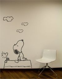Snoopy Wall Decal. Wall Sticker. on Etsy. I desperately