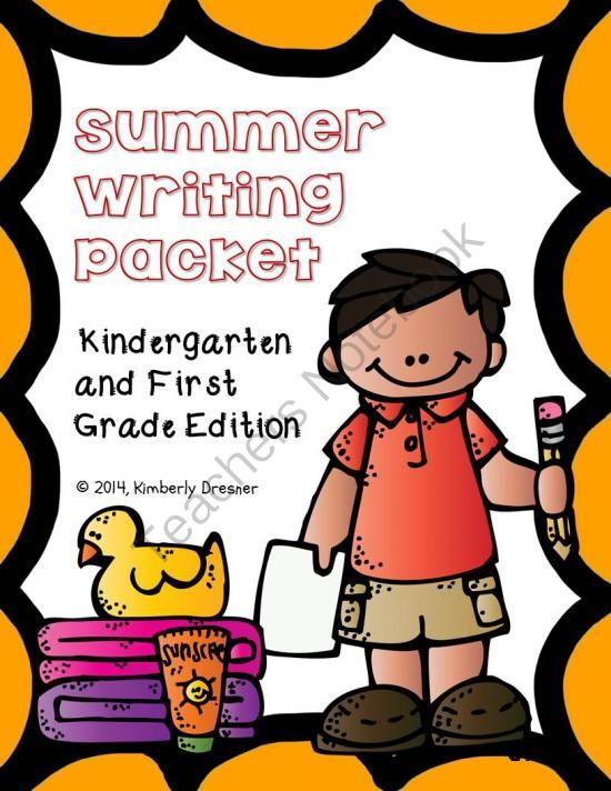 Summer Writing & Handwriting Packet, Kindergarten & 1st Grade From Kimberly's Kindergarten On