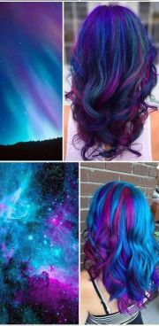 ideas galaxy hair