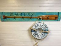 Paddle Oar Coat Rack With Vintage Hooks House by ...