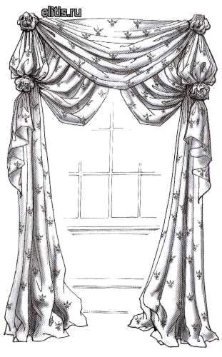 71 best images about How to draw curtains on Pinterest