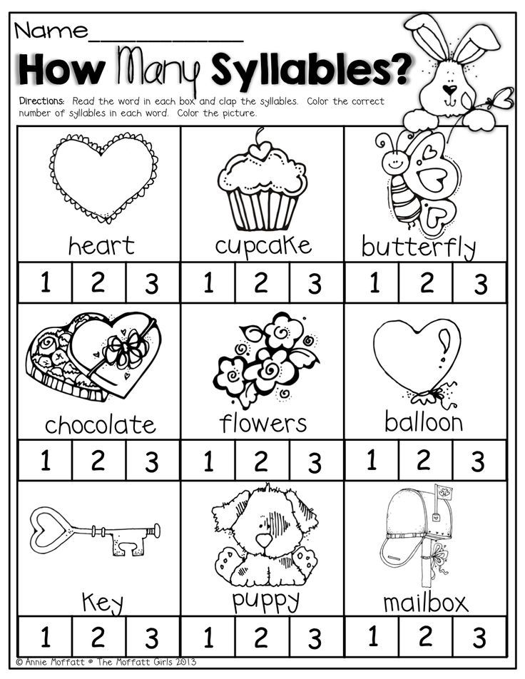 30 best images about papers for syllables on Pinterest