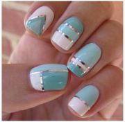 aqua white and silver graphic