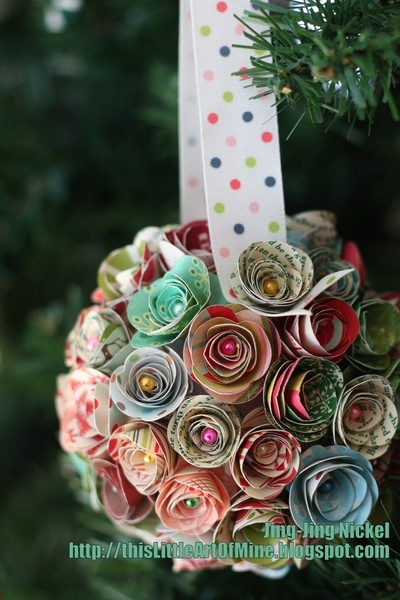 rose flower making with paper