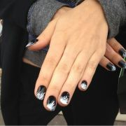 #black #white nail #design tips