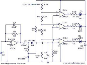 Parking sensor circuit  Electronic Circuits and DiagramElectronics Projects and Design