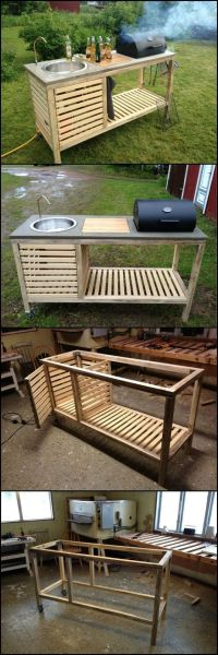 How To Build A Portable Kitchen For Your Backyard http ...