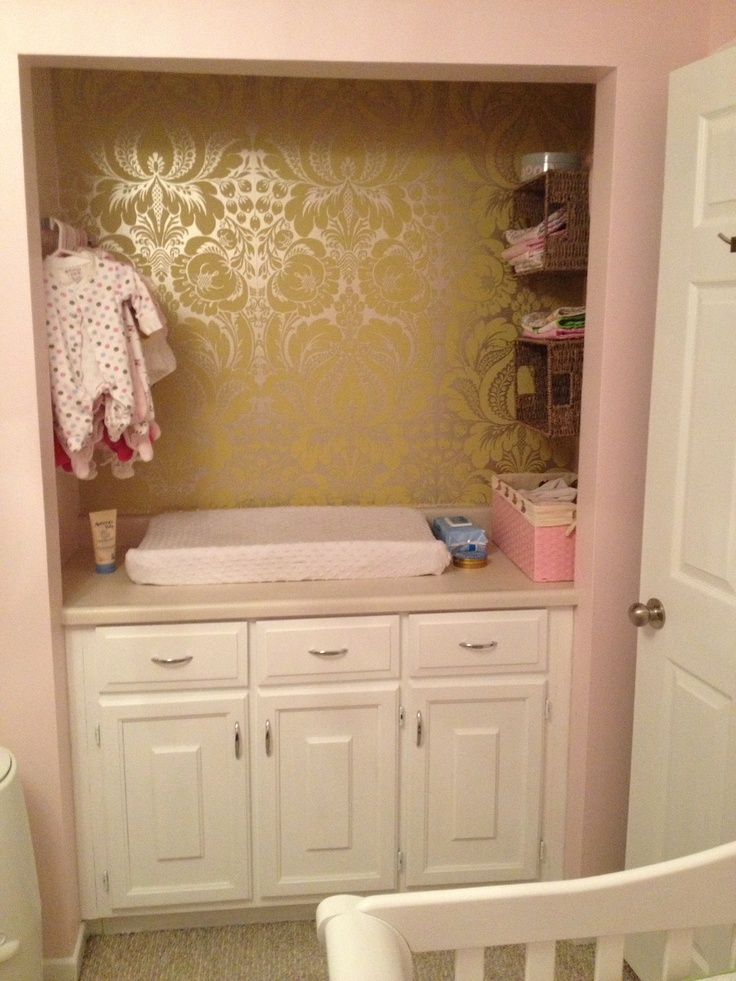 Closet Turned Into A Baby Changing Station Works Great In