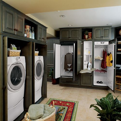walk in closet laundry room combo  Google Search  For