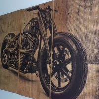 Harley Davidson Fatboy / Softail / Motorcycle Screen Print ...
