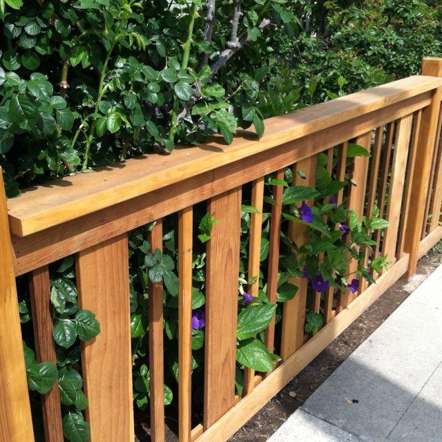25+ best ideas about Wood Deck Railing on Pinterest