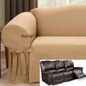 3 seat leather recliner sofa covers memory foam inserts for slipcovers, reclining and slipcovers on pinterest