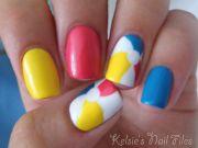 beach ball nails nailpolish