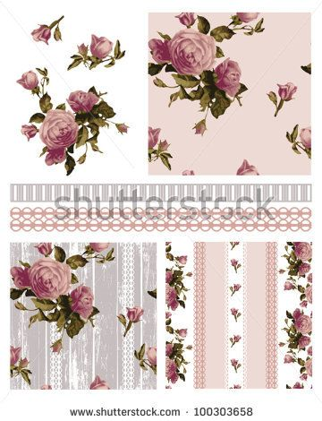 45 best images about Shabby Chic Patterns on Pinterest