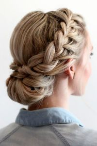 Best 25+ Braided updo ideas on Pinterest | Formal ...