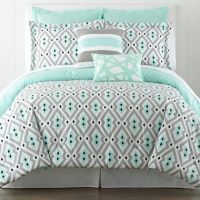 Mint and gray/black comforter set | Bedding Ideas ...