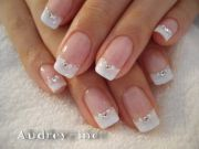 classic french manicure with