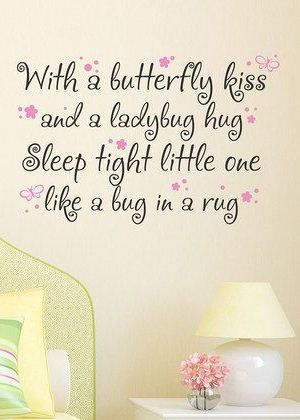 Butterfly Kiss Wall Quote