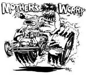 Big Daddy Roth Rat Fink Sketch Coloring Page