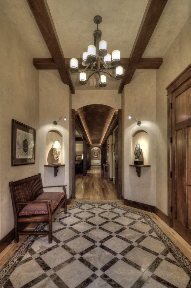 Light Ideas For Hallway With Wood Beams Sconce Wall