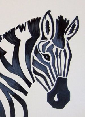 animal zebra painting zoo jungle safari theme nursery easy animals drawings simple paint drawing draw abstract canvas cool acrylic poster