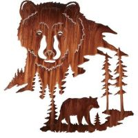 Black Bear Metal Wall Art | Black Bear, Metal Wall Art and ...