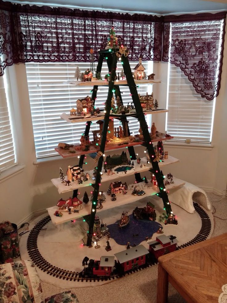 My Christmas Ladder With Christ At The Center As He