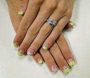 spring gel nail design cute