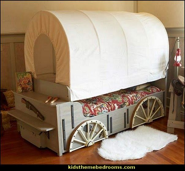Kids Wild West Cover Wagon Bed Wood Project Ideas